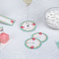 Eternal Rose Glass Markers (10)